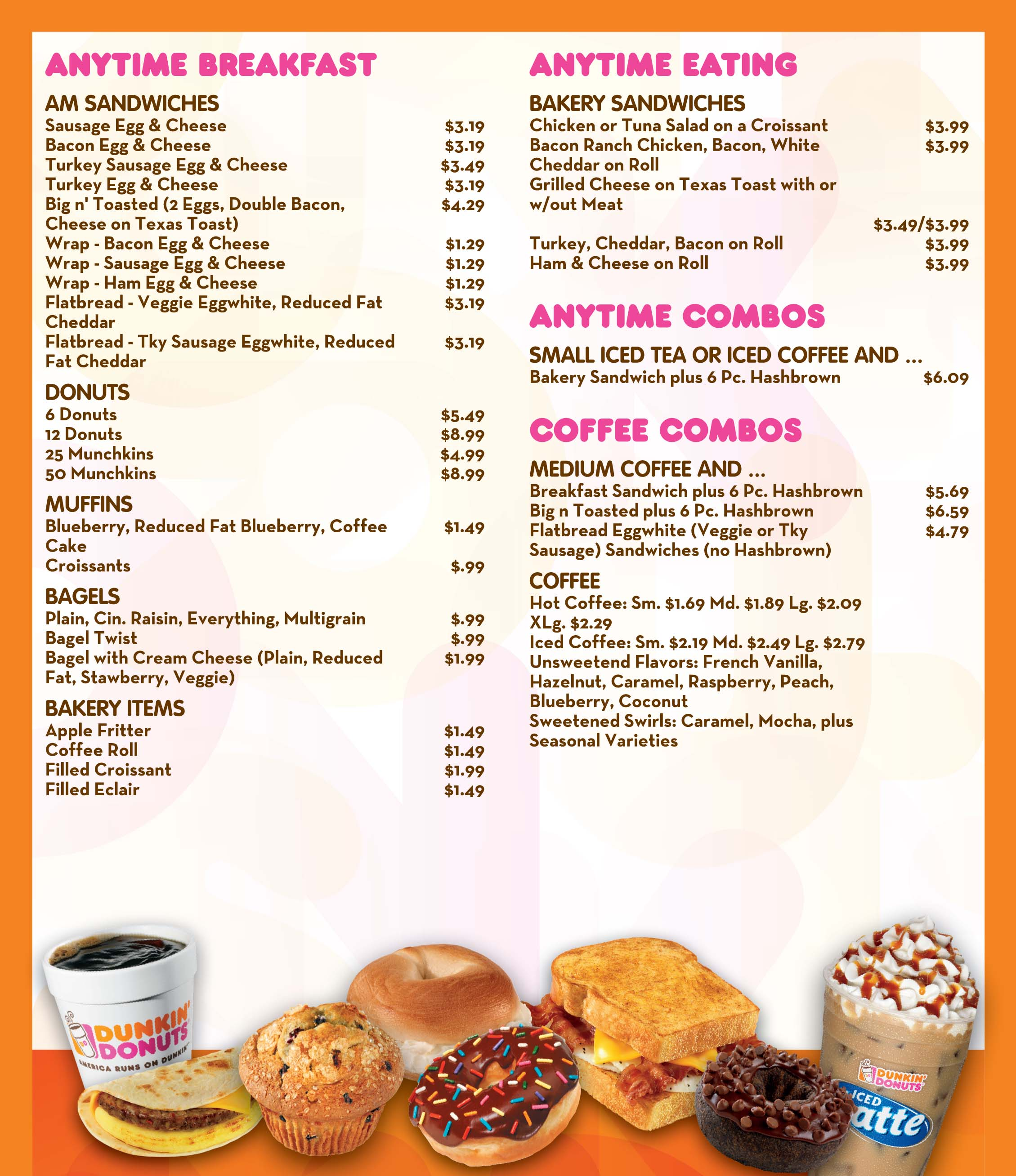 Dunkin Donuts Menu Nutrition | Besto Blog